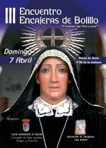 DIPTICO FRONTAL III ENCUENTRO ENCAJERAS DE BOLILLO 2013