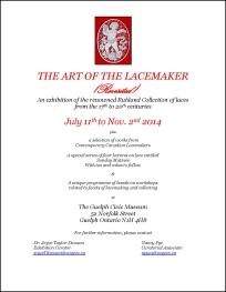 Lace Exhibition Poster, June 2014