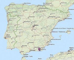 La mojonera map