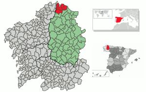 San Cibrao map