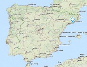 Castelldefels map