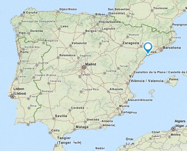 Map Of Spain Showing Salou.Lace Event Spain Xxi Trobada De Puntaires Salou May 15 2016