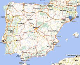 Santa Coloma map