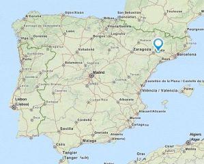 Vilanova de Bellpuig map