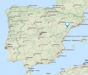 Gandesa map