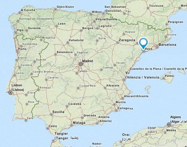 Map Of Spain Reus.Lace Event Spain Xvii Trobada De Puntaires De L Associacio De Dones