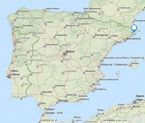 Santa Cristina map