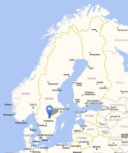 Vadstena map