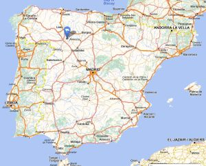 Valderas map