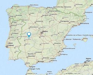 Romangordo map