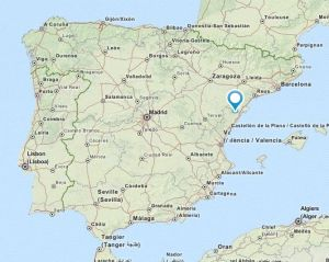 Canet lo Roig map