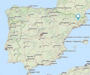 Gironella map