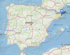 Llagostera map