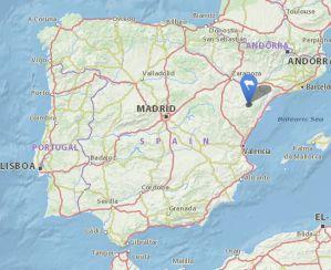 zorita del Maestrazgo map