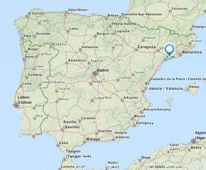 la pobla de montornes map