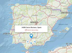 Cerro Muriano map
