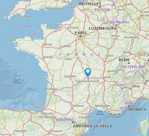 saint bonnet pre riom map