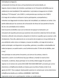 I Encuentro Bolillos 2017-2